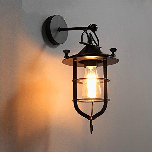 LIVY Loft industriale vintage lampada da parete in ferro battuto americano rustico Café ristorante terrazza una nave docking lampada da parete
