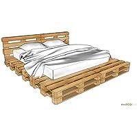 ETCO-PLUS Palettenmöbel -Windsor KingSize Bett - Bausatz preisvergleich bei kinderzimmerdekopreise.eu
