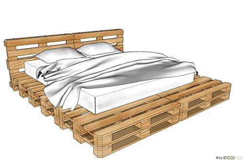 ETCO-PLUS Palettenmöbel -Windsor KingSize Bett - Bausatz
