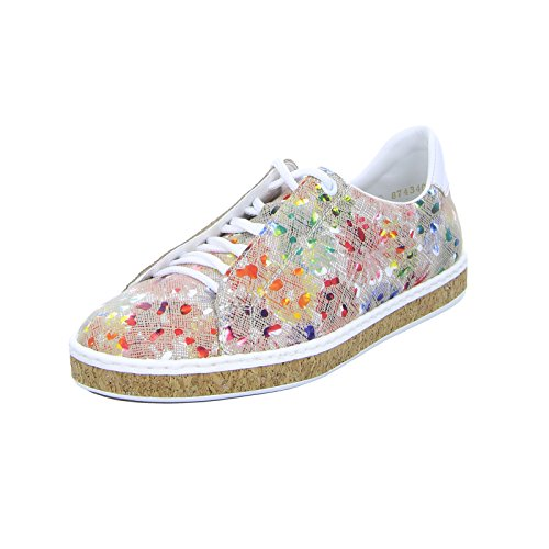 Rieker M85b8, Scarpe Stringate Derby Donna Multicolore (Ginger-multi/weiss)
