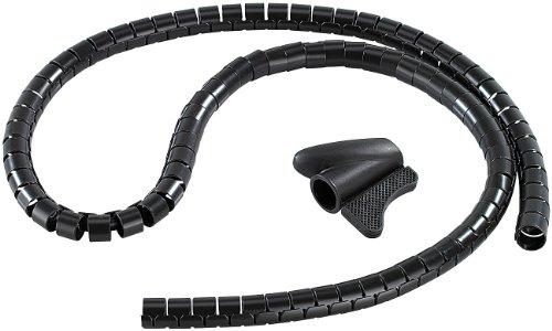 dream audio Flexibler Kabelkanal: Flexibler Kabelschlauch 22mm mit Einfädeltool, 1.5m in schwarz (Kabelschlauch flexibel)