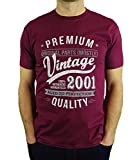 My Generation Gifts - Camiseta para Hombre 2000 Vintage Year - Aged to Perfection - 18 Cumpleaños - Borgoña M