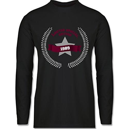 Shirtracer Geburtstag - 1989 Limited Special Edition - Herren Langarmshirt Schwarz