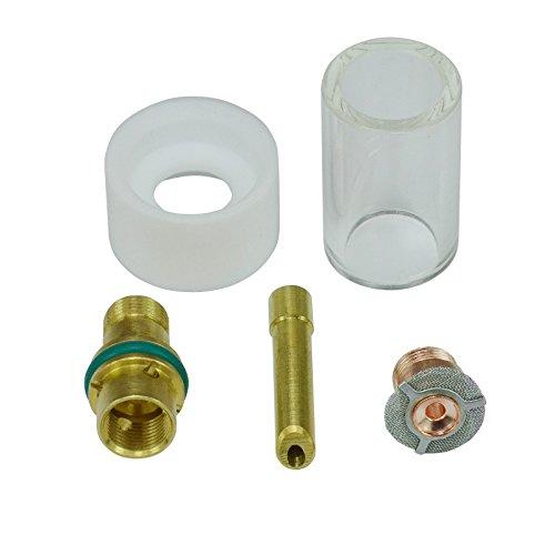 2,4mm Gas Sparen Keil Spannzange Pyrex-Becher Verbrauchsmaterial für 17 18 26 WIG Schweißbrenner 5 Stk