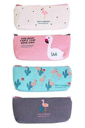 Flamingo Mäppchen,Federmäppchen Klein Set 4 Stück Kosmetiktasche Klein