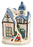 Galileo Casa Casetta Porta T-Light, Ceramica, Assortito, 11x12x18 cm