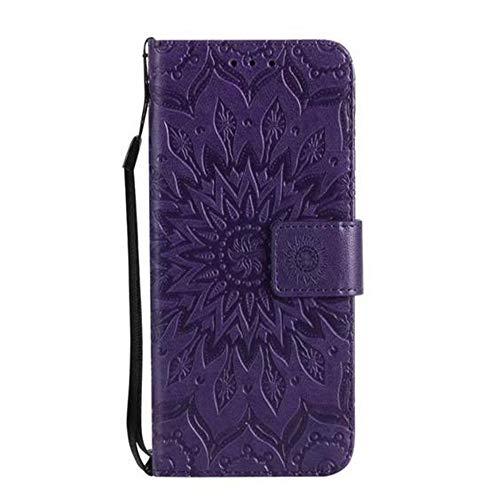 Preisvergleich Produktbild Aulzaju Schutzhülle für Samsung Galaxy S9,  Sonnenblumen-Design,  luxuriöses Kunstleder,  stoßfest,  mit Kreditkartenständer,  Blumen-Design,  Rosa Samsung galaxy s9 schwarz