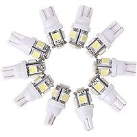 Neuftech® 10 X Bombilla T10 5 LED 5050 SMD 12V Luz Coche Trasera Lámpara,Blanco