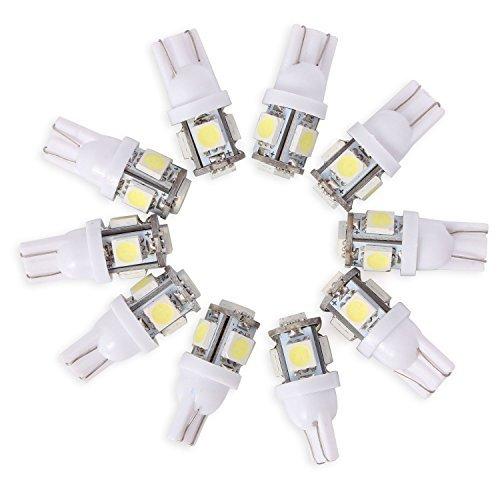 Neuftech® 10 x T10 Auto KFZ 194 168 5050 5 SMD LED Standlicht Lampe Birne Licht Weiß 12V … Test