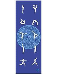 Esterilla de yoga »Yoganidra« / La esterilla de yoga y de gimnasia ideal para principiantes / Medidas: 183 x 61 x 0,4 cm / Ejercicio de yoga