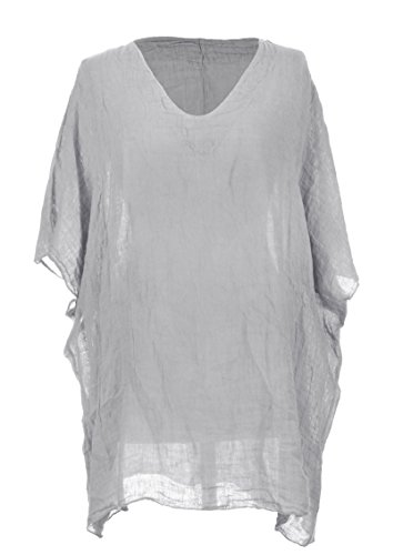 Generic - Camicia - Basic -  donna Light Grey