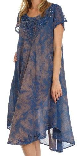 Sakkas Robe Michiko Caftan Délavée / Robe de plage Bleu