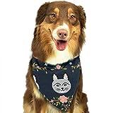 Osmykqe Hund Bandanas Katze und Blume einstellbar Hundehalsband Katze Schal Welpen Bandans Pet Zubehör