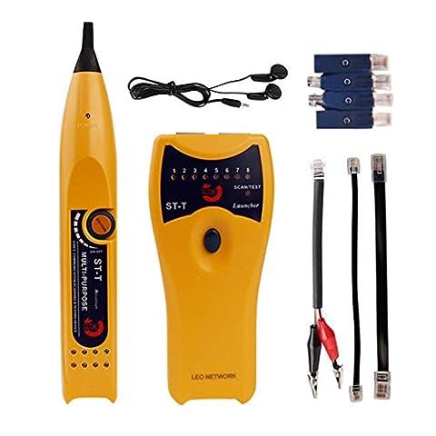 Testeur de Câble Réseau,CrazyFire Multimètre Testeur de Ligne Téléphonique,RJ45 RJ11