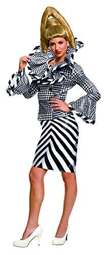 Zoolander 2 Alexanya Black & White Outfit Adult Costume (Zoolander Outfit)