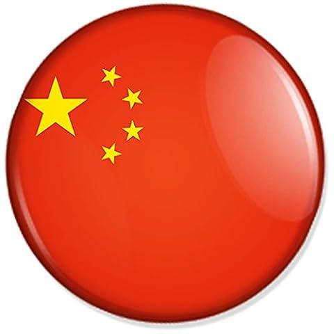 Flagge China Button, Badge, Anstecker, Anstecknadel, Ansteckpin