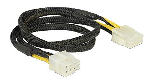 8-pin-weiblich-anschluss (DeLock 83653-Kabel (EPS 8-Pins), EPS (8-Pins), männlich/weiblich, rechts, rechts, schwarz, gelb.)