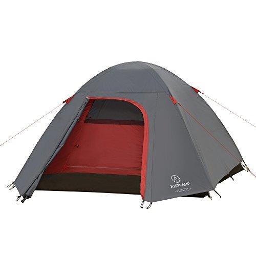 Justcamp flint 3.5 tenda da campeggio 3/4 posti, tenda igloo (280 x 225 x 135 cm)