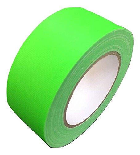 Neon Klebeband matt Grün fluoreszierend 25 mm x 50 m Gaffa Tape UV Duct Tape