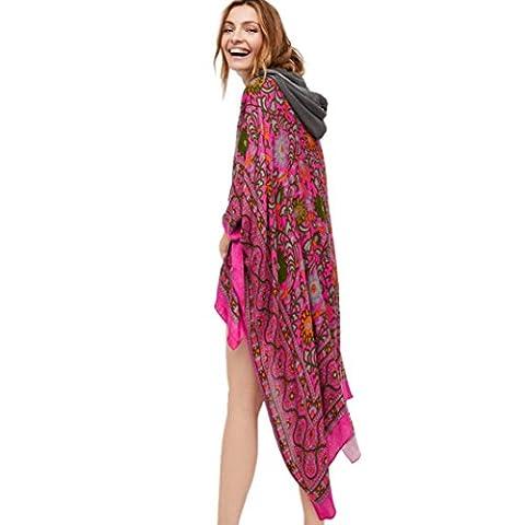 Bluestercool Kimono Cardigan Femmes Imprimé Mousseline de Soie Châle (S,