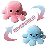 Polpo reversibile, giocattoli morbidi a doppia faccia, polpo farcito, mini polpo carino, bambola di peluche, regali creativi