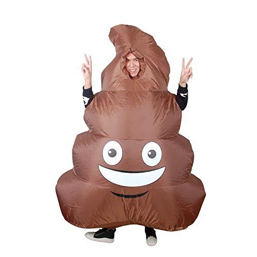 YCRD Aufblasbare Kleidung Niedliche Poop Aufblasbare Pu Polyester-Tuch Party Stage Doll Requisiten Cosplay-Urlaubs Kleid (150Cm-190Cm)