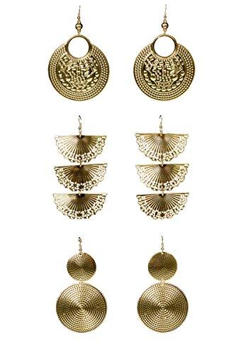 1 Paar Ohrringe Gipsy-gold, - Zigeuner Kostüm Paar