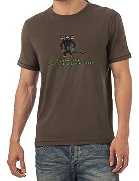 NERDO - Dreiköpfiger Affe - Herren T-Shirt