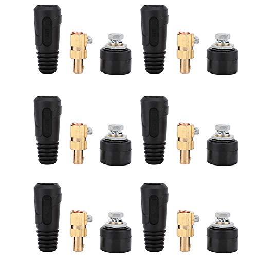 6 stücke (3 Paar) Euro Stil Schweißen Kabel Kupfer und Gummi Schnellkupplung Schweißen Drahtverbinder 200A-400A(35-50)