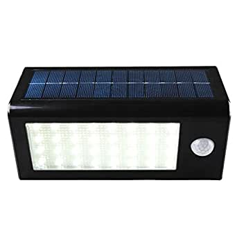 grde lampe d 39 exterieur etanche en 400 lumens 32 led solaire pir eclairage de s curit lampe. Black Bedroom Furniture Sets. Home Design Ideas