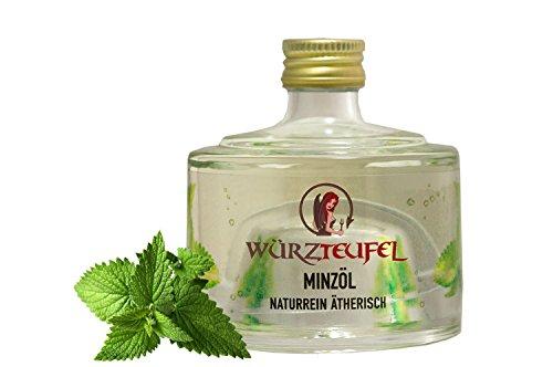 Minzöl, naturreines, ätherisches Öl der Minze, Heilpflanzenöl, Flasche 40 ml. -