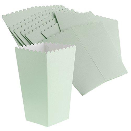 Homyl 8pcs Papier Popcorn Schachtel Snackbox Süßigkeiten Tüten Container für Lebensmittel Zum Alltag und Geburtstag Hochzeit Party - Blau - Papier-lebensmittel-container