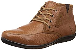 Red Chief Mens RC1368A Tan Leather Boat Shoes - 7 UK/India (40.5 EU)(RC1368A 006)