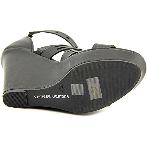Chinese Laundry Z-Madia Femmes Synthétique Sandales Compensés Burnish Black