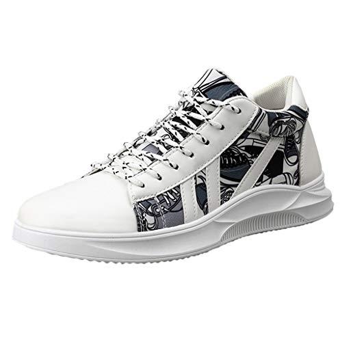 Lilicat Uomo Scarpe da Ginnastica Tennis Running Walking Sportive Sneakers Moda Classica Estiva Casual Canvas Scarpe da Ginnastica(Bianca,41 EU)
