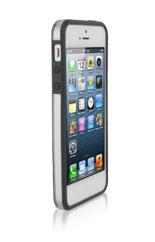 rooCASE Étui origami Fusible Coque à clipser et stylet capacitif pour Apple iPhone 5/5S/5C Gray / Frost