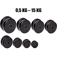 Par de discos de pesas C.P. Sports de entre 0,5 kg y 15 kg, con orificio de 30 mm, 10 KG Paar