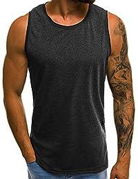 OZONEE Mix Herren Tanktop Basic Unifarben Tank Top Tankshirt T-Shirt Unterhemden Ärmellos Muskelshirt Sport O/1205