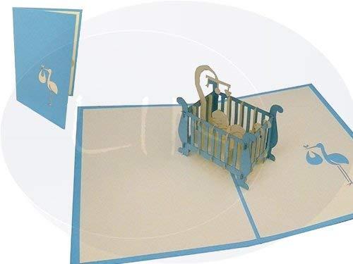 Lin de Pop up 3D Cartes de vœux Félicitations cartes cartes de vœux Cartes Naissance Bébé Naissance Cartes, lit enfant jeune