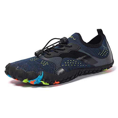 SWFY Shoes Scarpette da Acqua per Uomo a Piedi Nudi in Pelle Scarpette Aqua Quick Dry per la Nuotata in Barca a Vela Walking Yoga Garden Diving Canottaggio Sport del Lago,43
