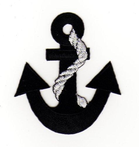 Aufnäher Bügelbild Aufbügler Iron on Patches Applikation Anker Rockabilly Seefahrt Schiffsanker