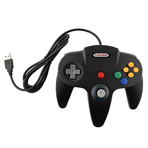 Childhood Retro Classic USB Controller Gamepad Joysticks für PC MAC N64 Style schwarz 2500 Analoge