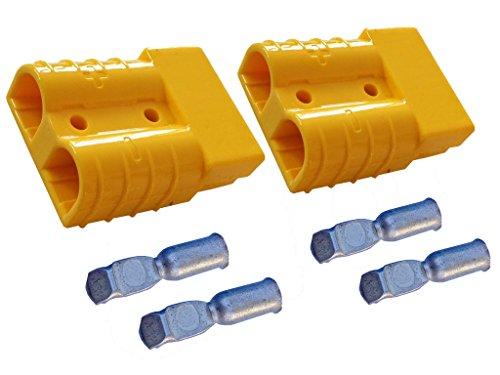 Batterie Stecker 50A 4-6 mm2 gelb Set Steckverbinder für Gabelstapler Kabel 50a Kabel