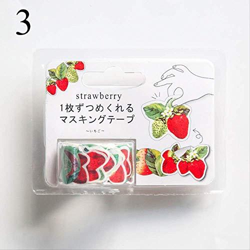 AYYQX Washi Tape Rosenblüten Blütenblatt Washi Tape Sticker Sukkulenten Deko Sticker Masking Tape Girls DIY Alben Schreibwaren3 -
