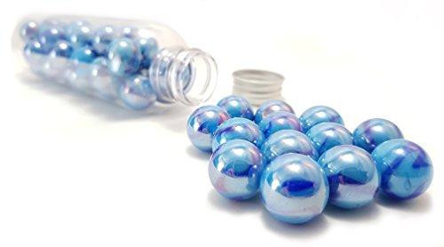 MaRécréation–30Bolas Luxe y Brillo de Cristal coleccionables, SKU China, Azul, 16mm