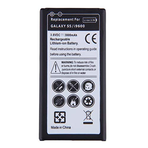 fengwen66 Replacement Li-ion Battery for Samsung Galaxy S5/i9600 EB-BG900BBE 3800mAh(Black