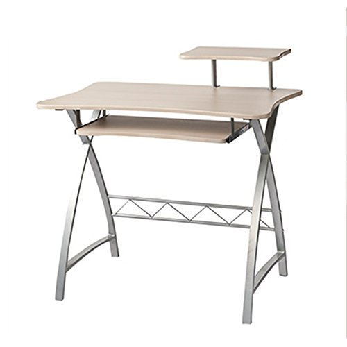 Metall Office Workstation (Folding table LVZAIXI Computer Schreibtisch Home Office Workstation und Hutch Research Tisch, X-förmigen Metallrahmen)