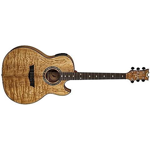 Dean Guitars exqa GN Exhibition Quilt Ash Gloss Natural Chitarra Acustica/elettrica
