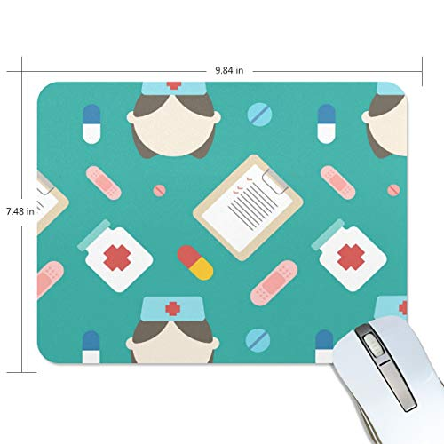 MONTOJ Gaming Mauspad Gallipot Krankenschwester Medizin Computer Tastatur Mauspad, wasserabweisend, rutschfeste Unterseite, ideal für Gaming und Arbeiten