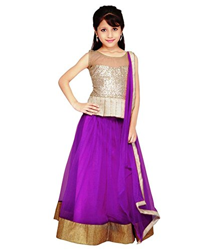 Shiroya Brothers Color Net Traditional Kids Wear Lehenga Choli for Girls Party Wear(SB_Lehengha_94)  available at amazon for Rs.249